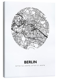 Canvas-taulu  City map of Berlin - 44spaces