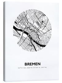 Canvas-taulu  City map of Bremen - 44spaces