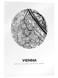 Akryylilasitaulu  City map of Vienna - 44spaces