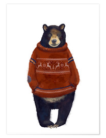 Juliste  Mr. Bearr in Norwegian sweater - Kidz Collection