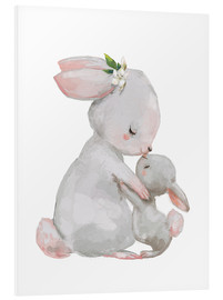 PVC-taulu  Sweet white bunnies - mother with child - Kidz Collection