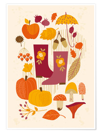 Juliste  Autumn days - Kidz Collection