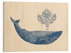 Puutaulu  A whale from Damask - Terry Fan
