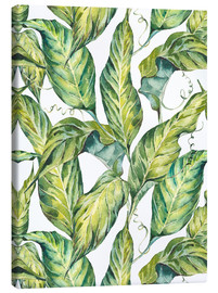 Canvas-taulu  Exotic watercolor