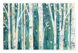 Juliste  Birches in Spring - Julia Purinton