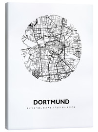 Canvas-taulu  City map of Dortmund - 44spaces