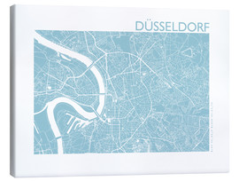 Canvas-taulu  City map of Dusseldorf - 44spaces