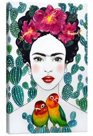 Canvas-taulu  Frida's lovebirds - Mandy Reinmuth
