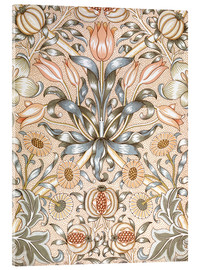Akryylilasitaulu  Lily and Pomegranate - William Morris