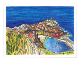 Juliste View to Vernazza