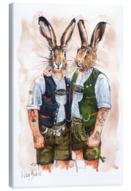Canvas-taulu  GAY RABBITS - Peter Guest