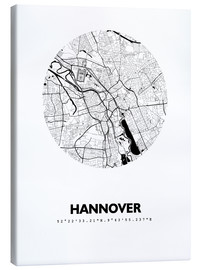 Canvas-taulu  City map of Hannover - 44spaces