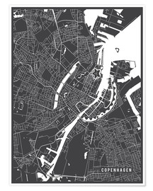 Juliste Copenhagen Netherlands Map