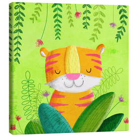Canvas-taulu  Tiger in the jungle - Sandy Thißen