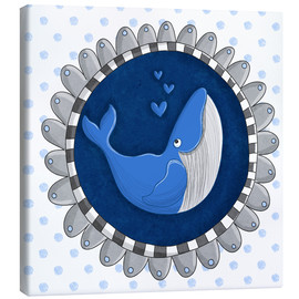 Canvas-taulu  Billy the blue whale - Sandy Thißen