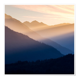 Juliste Evening light in the mountains