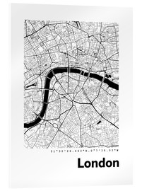 Akryylilasitaulu  City map of London - 44spaces