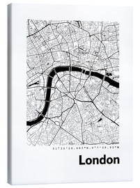 Canvas-taulu  City map of London - 44spaces