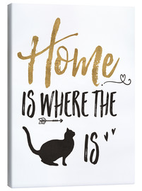Canvas-taulu  Home is where the cat is - Veronique Charron