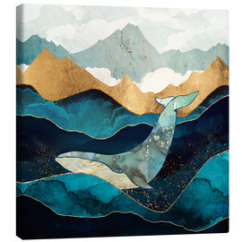 Canvas-taulu  Blue Whale - SpaceFrog Designs