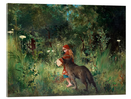 Akryylilasitaulu  Little Red Riding Hood and the Wolf - Carl Larsson