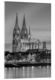 Akryylilasitaulu  Cologne Cathedral black-and-white - Michael Valjak