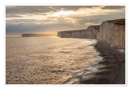 Juliste Chalk cliffs Seven Sisters in southern England