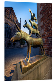 Akryylilasitaulu  The statue of the Bremen Town Musicians - Jan Christopher Becke