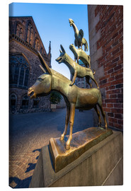 Canvas-taulu  The statue of the Bremen Town Musicians - Jan Christopher Becke