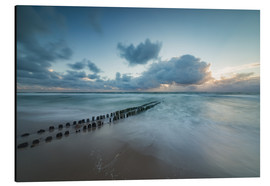 Alumiinitaulu  Groyne in the evening on Sylt (long exposure) - Heiko Mundel