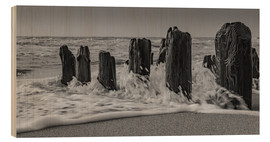 Puutaulu  Groyne with waves - Heiko Mundel