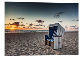 PVC-taulu  Beach chair on Sylt at sunset - Heiko Mundel