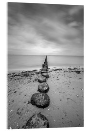 Akryylilasitaulu  Groyne on Rügen (long exposure) - Heiko Mundel