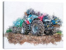 Canvas-taulu  tractor - Peter Roder