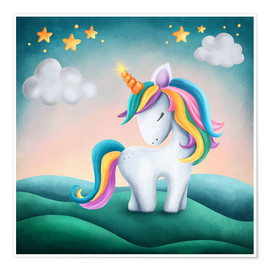 Juliste Cute unicorn