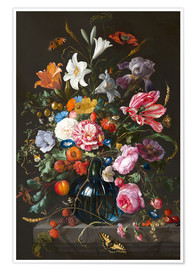 Juliste  Vase of Flowers - Jan Davidsz de Heem