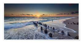 Juliste  Groynes in the sunset - Heiko Mundel