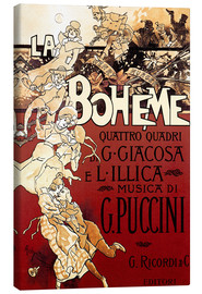 Canvas-taulu  La Boheme of Puccini - Adolfo Hohenstein