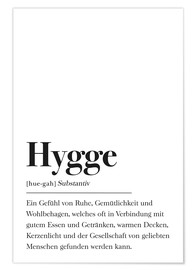Juliste  Hygge Definition (German) - Pulse of Art