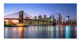 Juliste Colorful lights in New York