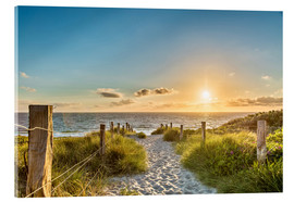 Akryylilasitaulu  Path through the dunes, Baltic Sea - Art Couture
