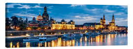 Canvas-taulu  Dresden at night - Art Couture