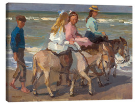 Canvas-taulu  To ride a donkey - Isaac Israels