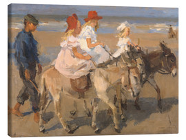 Canvas-taulu  Donkey rides on the beach - Isaac Israels
