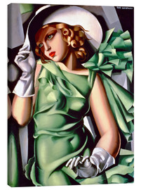 Canvas-taulu  Young lady with gloves - Tamara de Lempicka
